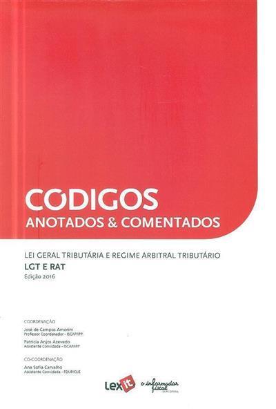 Códigos anotados & comentados (coord. José de Campos Amorim, Patrícia Anjos Azevedo, Ana Sofia Carvalho)