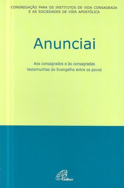 Anunciai (Congregação para os Institutos de Vida Consagrada e as Sociedades de Vida Apostólica)
