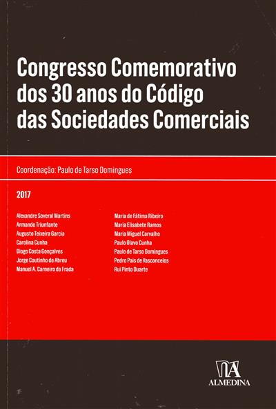 Congresso Comemorativo dos 30 anos do Código das Sociedades Comerciais (coord. Paulo de Tarso Domingues)