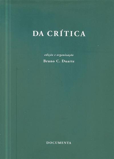 Da crítica (textos Andreas Arndt... [et al.])