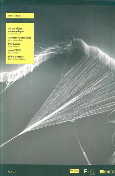 Nanocadernos (ed. i2ADS - Instituto de Investigação em Arte, Design e Sociedade, Instituto de Filosofia)