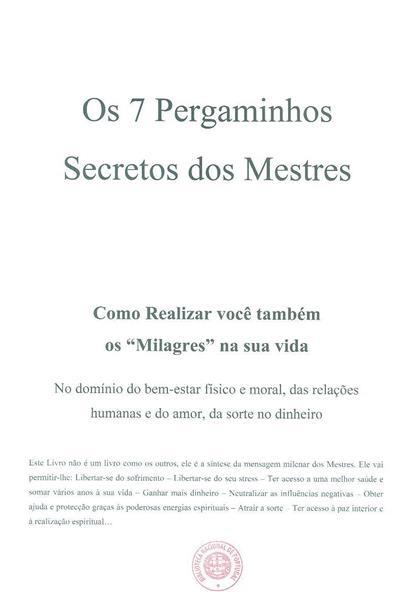 Os 7 pergaminhos secretos dos mestres