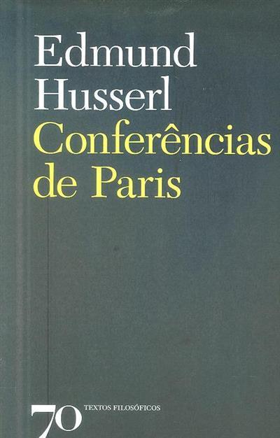 Conferências de Paris (Edmund Husserl)