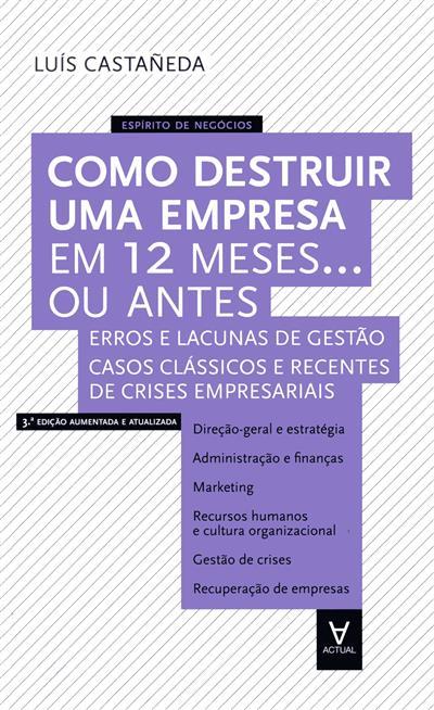 Como destruir uma empresa em 12 meses... ou antes (Luis Castañeda Martinez)