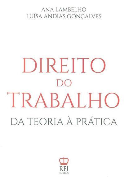 Direito do trabalho (Ana Lambelho, Luísa Andias Gonçalves)