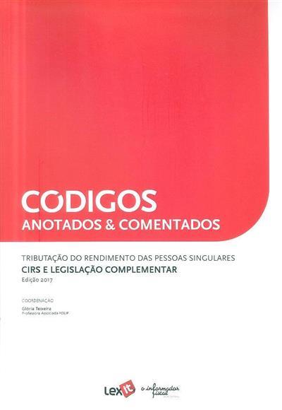 Tributação do rendimento das pessoas singulares (coord. Glória Teixeira)