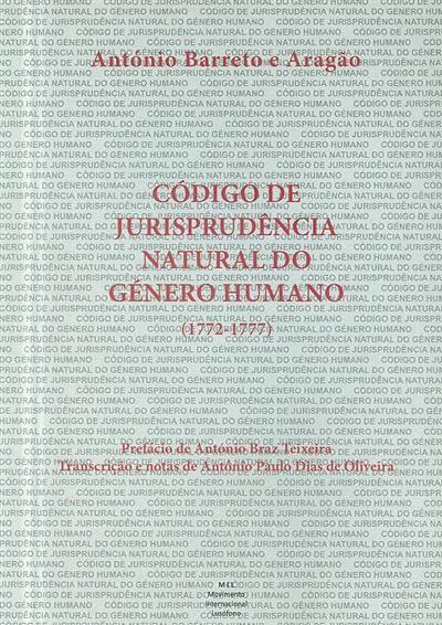 Código de jurisprudência natural do género humano (1772-1777) (António Barreto e Aragão)