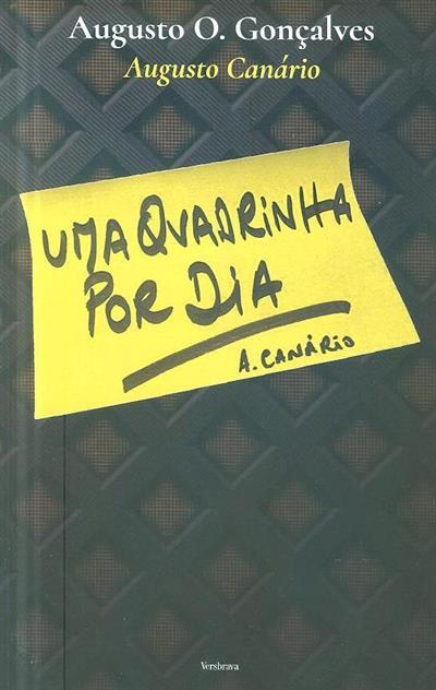 Uma quadrinha por dia (Augusto O. Canário)