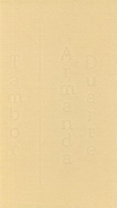 Tambor - Armanda Duarte (sel. de conteúdos Armanda Duarte)