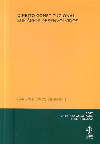 Direito constitucional (Carlos Blanco de Morais)