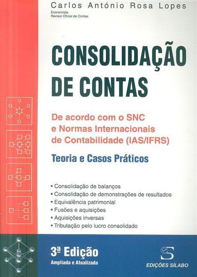 Consolidação de contas (Carlos António Rosa Lopes)