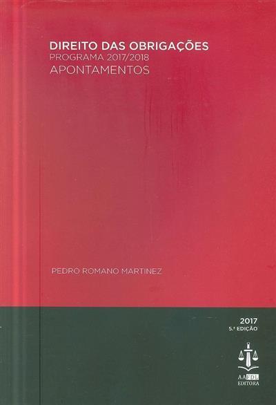Direito das obrigações (Pedro Romano Martinez)