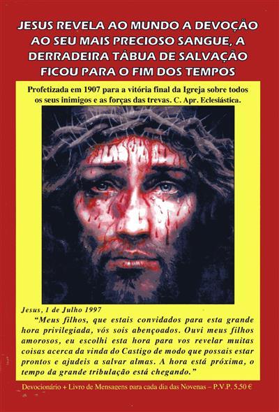 Devocionário diário do mais precioso sangue de Jesus Cristo (União Apostólica)