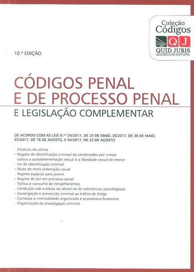 Códigos penal e de processo penal e legislação complementar