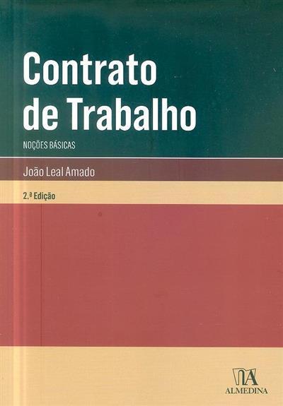 Contrato de trabalho (João Leal Amado)