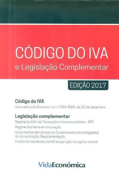 Código do IVA e legislação complementar