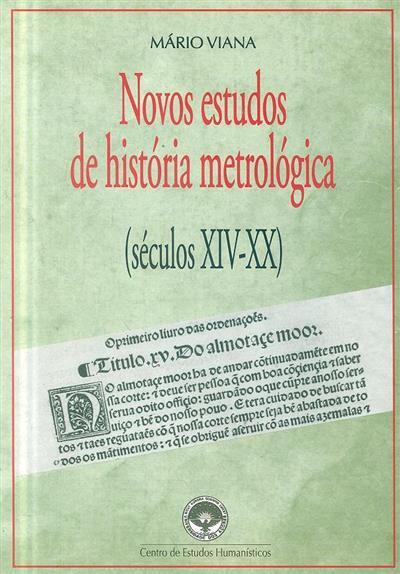Novos estudos de história metrológica (Mário Viana)