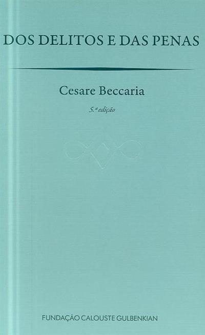 Dos delitos e das penas (Cesare Beccaria)