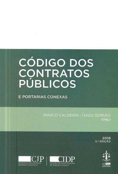 Código dos contratos públicos (org. Marco Caldeira, Tiago Serrão)