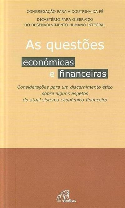 As questões económicas e financeiras (Congregação para a Doutrina da Fé)