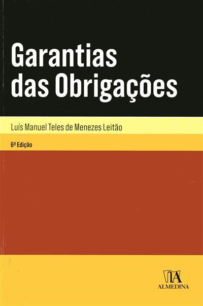 Garantias das obrigações (Luís Manuel Teles de Menezes Leitão)