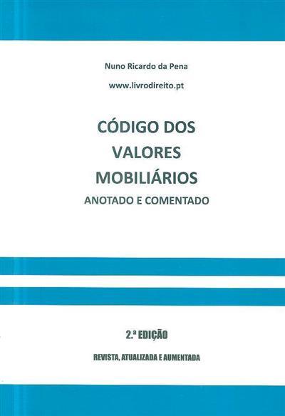 Código dos valores mobiliários (Nuno Ricardo da Pena)