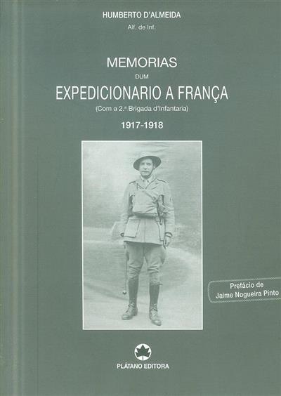 Memórias dum expedicionário a França 1917-1918 (Humberto d'Almeida)