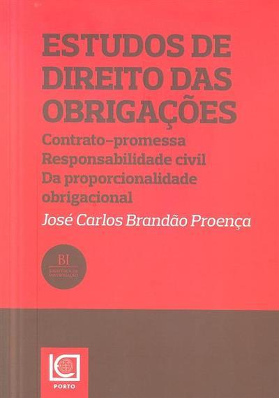 Estudos de direito das obrigações (José Carlos Brandão Proença)