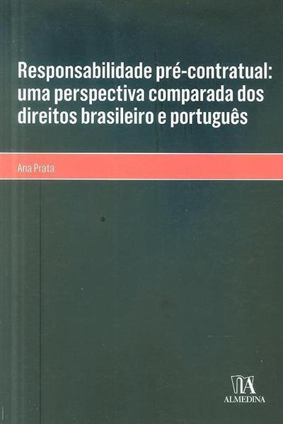Responsabilidade pré-contratual (Ana Prata)