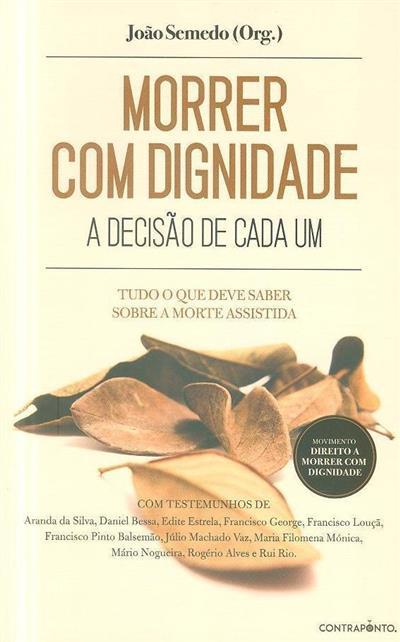Morrer com dignidade (org. João Semedo)