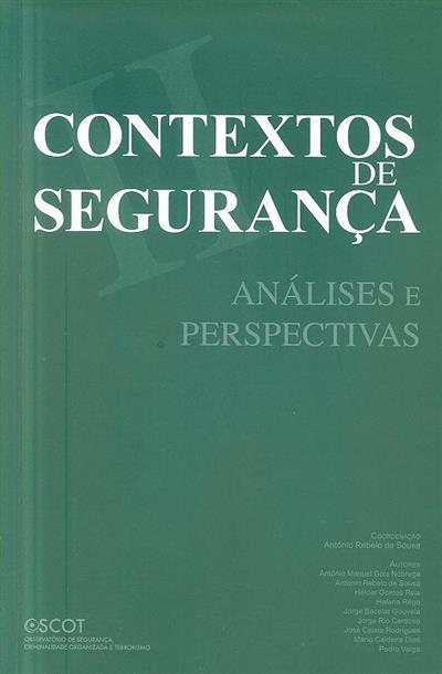 Contextos de segurança (António Manuel Góis Nóbrega... [et al.])