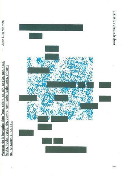 Aporías de la investigación (tras,sobre,so,sin,según, por, para, hasta, desde, de, contra, con, cabe, bajo, ante,en) arte notas sobre el saboer (Juan Luís Moraza)