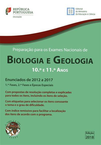 Preparação para os exames nacionais de biologia e geologia, 2012 a 2017 (Adão Mendes, Aires Alexandre, João Oliveira)