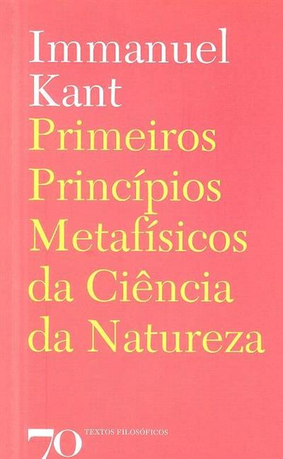 Princípios metafísicos da ciência da natureza (Immanuel Kant)