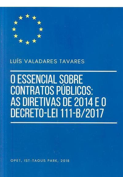 O essencial sobre contratos públicos (Luís Valadares Tavares)
