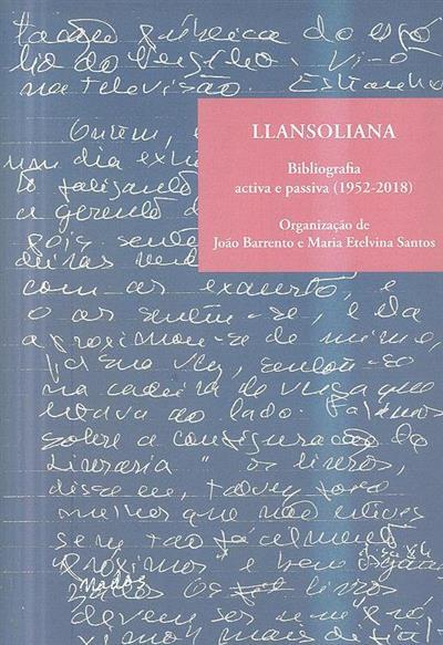 Llansoliana (org. João Barrento, Maria Elelvina Santos)