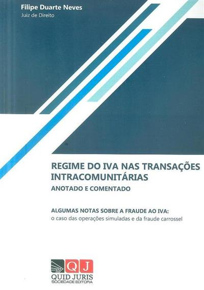 O regime do IVA nas transações intracomunitárias