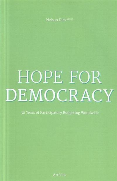 Hope for democracy (org. Nelson Dias)