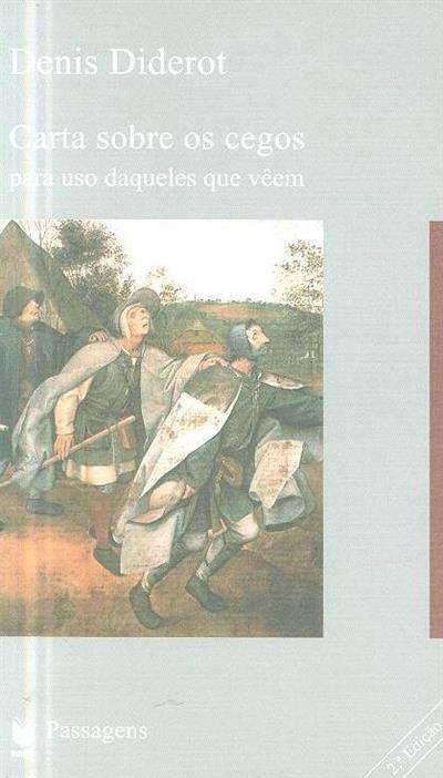 Carta sobre os cegos para uso daqueles que vêem (Denis Diderot)