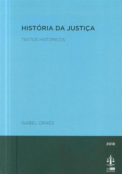 História da justiça (Isabel Graes)