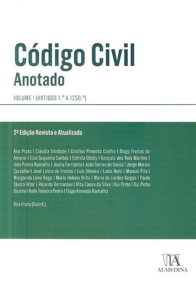 Código civil (coord. Ana Prata)
