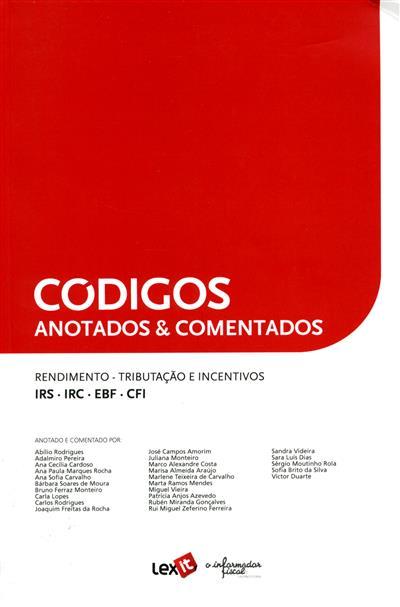 Rendimento, tributação e incentivos (anot. e coment. Abílio Rodrigues... [et al.])