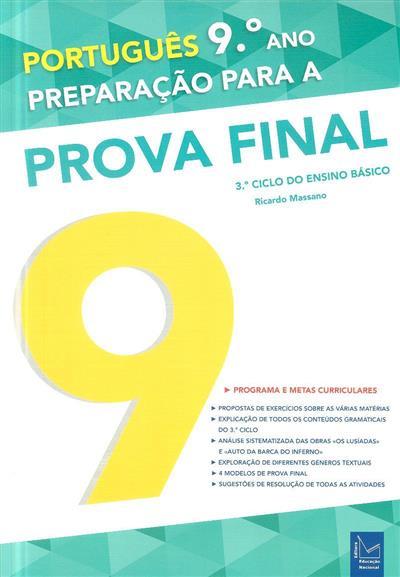 Português, 9º ano - 3º ciclo do ensino básico (Ricardo Massano)