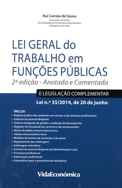 Lei geral do trabalho em funções públicas (Rui Correia de Sousa)
