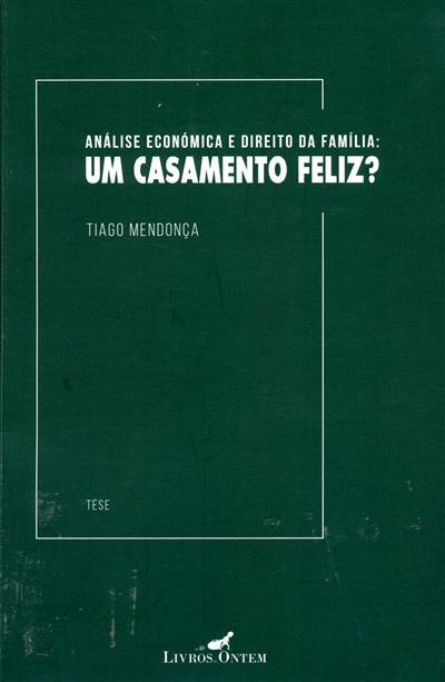 Análise económica e direito da família (Tiago Mendonça)
