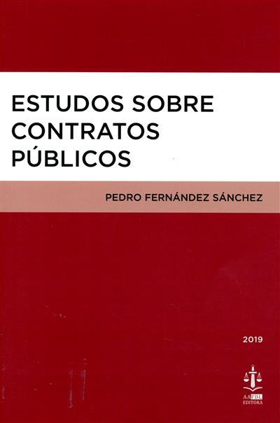 Estudos sobre contratos públicos (Pedro Fernández Sánchez)