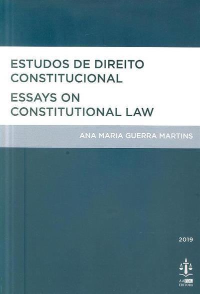 Estudos de direito constitucional (Ana Maria Guerra Martins)