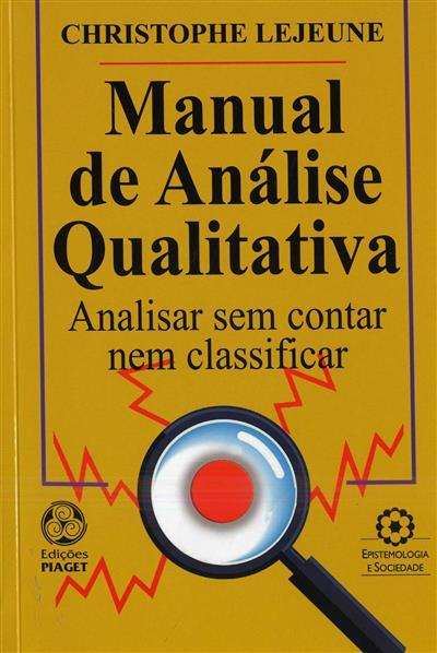 Manual de análise qualitativa (Christophe Lejeune)