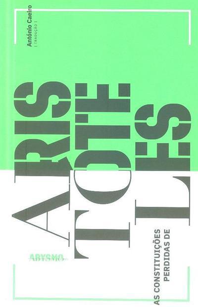 As constituições perdidas de Aristóteles