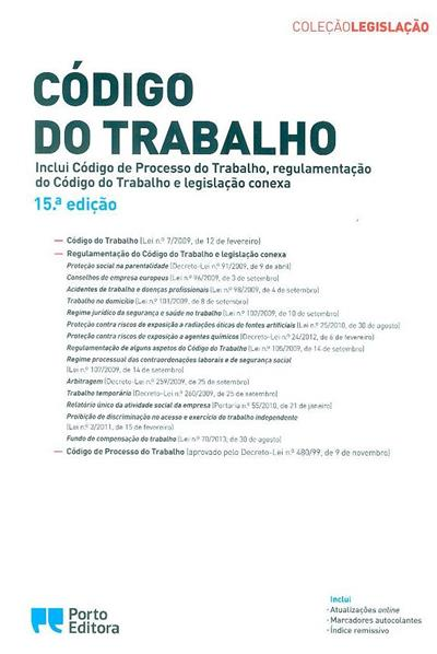 Código do trabalho (coord. Isabel Rocha, Nuno Gustavo Pimenta)